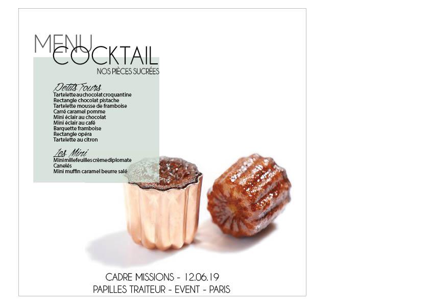 Cocktail - Papilles Traiteur - Soirée Corpo